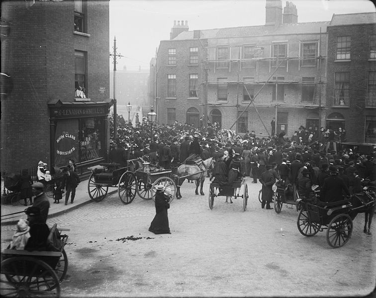 J.J. Clarke, Funeral Procession Dublin, National Library of Ireland