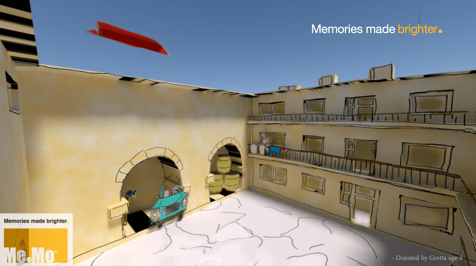 Courtytard VR Scene